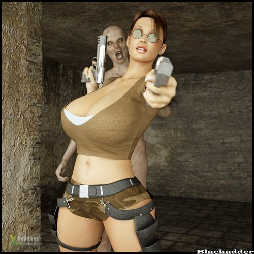 Lara Croft likes Monsters